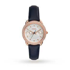 Fossil Multifunction Indigo-Dyed Leather Watch ES4052
