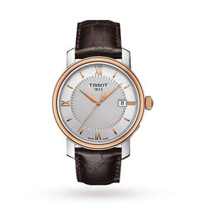 Tissot Bridgeport Silver Dial Brown Leather Men's Watch