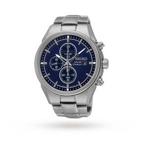Seiko Men's Titanium Chronograph Solar Powered Watch SSC365P1