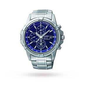 Seiko Men's Alarm Chronograph Solar Powered Watch SSC141P1