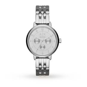 Armani Exchange Ladies Silver Steel Bracet Watch