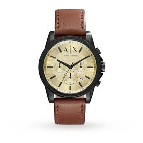 Armani Exchange Mens Dark Brown Chronograph Watch