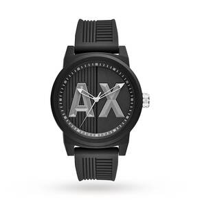 Men's Armani Exchange Atlc Black Silicone Strap Watch AX1451