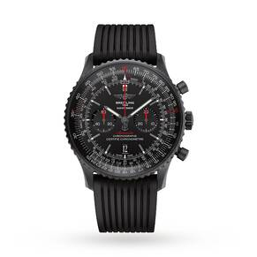Breitling Navitimer Black Steel Mens Watch