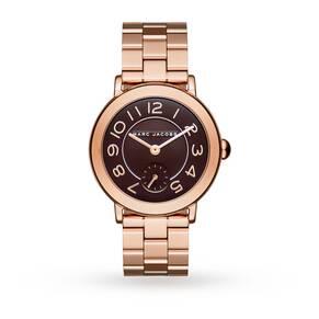 Marc Jacobs Ladies Riley Rose Gold Steel Bracelet Watch MJ3489