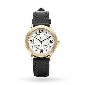 Marc Jacobs Women's Riley Black Leather Strap Watch 28mm MJ1516