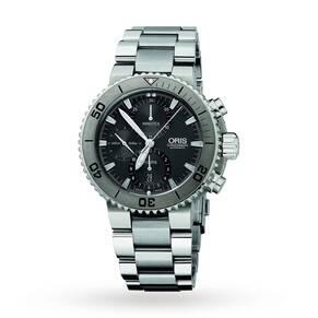 Oris Men's Aquis Titan Titanium Automatic Chronograph Watch