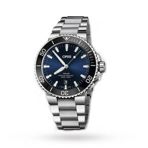 Oris Aquis Date Stainless Steel Blue Dial Mens Watch 73377304135