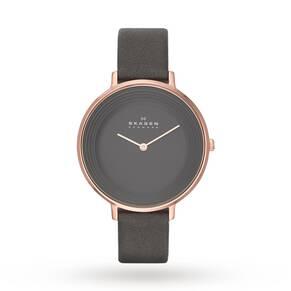 Skagen Ditte Leather Watch