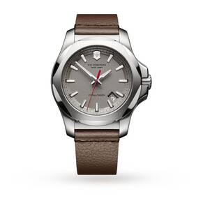 Victorinox INOX Leather Mens Watch