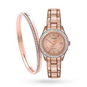 Citizen Ladies' Silhouette Crystal Eco-Drive Watch