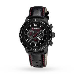 Mens Wenger Roadster Black Night Chronograph Watch