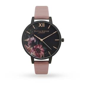 Olivia Burton After Dark Floral Black, Rose & Rose Gold