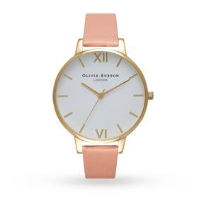 Olivia Burton White Dial Dusty Pink & Gold Watch