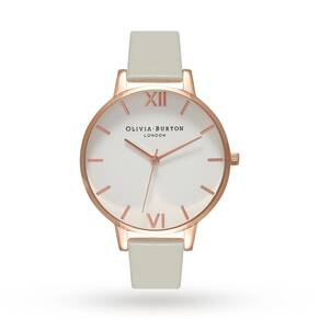 Olivia Burton Big Dial Grey & Rose Gold
