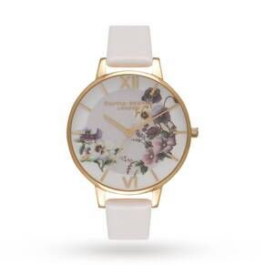 Olivia Burton Embroidery Pansy Blush & Gold