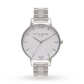 Olivia Burton Ladies' White Dial Bracelet Watch
