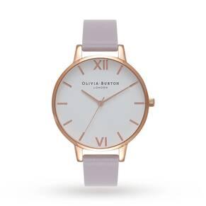 Olivia Burton Ladies' White Dial Big Dial Watch