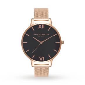 Olivia Burton Ladies' Black Dial Watch