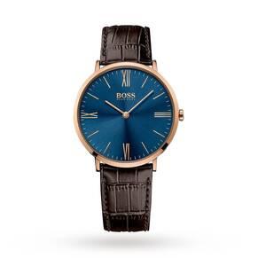 Men's Hugo Boss Jackson Brown Leather Strap Watch