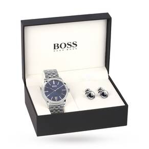 Hugo Boss Men's Cufflink Gift Set Watch