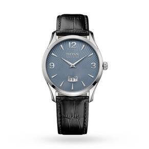 Hugo Boss Commander Black Leather Watch