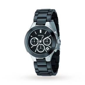 DKNY Ladies' Chambers Ceramic Chronograph Watch