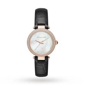 Michael Kors Ladies Black Leather Strap Watch MK2591 MK2591