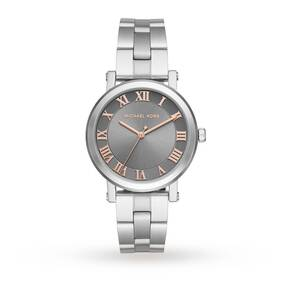 Michael Kors Norie Stainless-Steel Three-Hand Watch