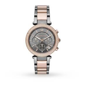 Michael Kors Ladies Parker Two Tone Chronograph Watch