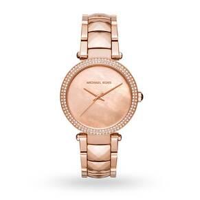 Michael Kors Parker Rose Gold-Tone Three-Hand Watch