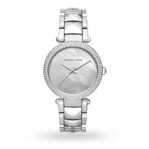 Michael Kors Parker Silver-Tone Three-Hand Watch