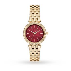 Michael Kors Ladies Mini Darci Gold Steel Bracelet Watch MK3583