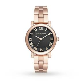 Michael Kors Ladies Norie Gold Steel Bracelet Watch