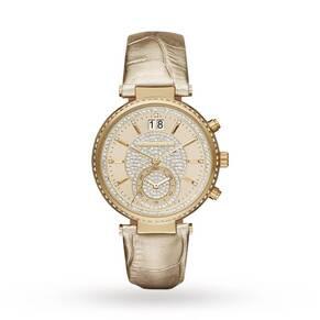 Ladies Michael Kors Sawyer Chronograph Watch MK2444