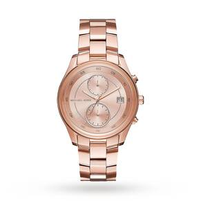 Michael Kors Briar Rose Gold-Tone Multifunction Watch