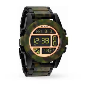 Mens Nixon The Unit Ss Alarm Chronograph Watch