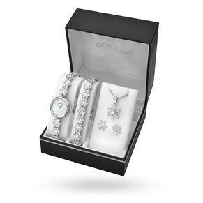 Sekonda Ladies' Necklace Earring and Bracelet Gift Set Watch