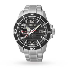 Mens Seiko Sportura Direct Drive Kinetic Watch
