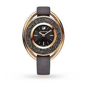 SWAROVSKI Crystalline Oval Gray Tone Watch
