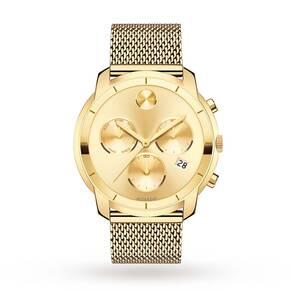 Movado Bold Champagne Dial Chronograph Men's Watch