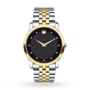 Mens Movado Museum Diamond Watch 0606879