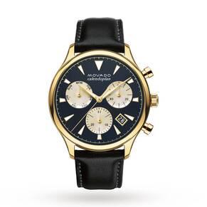 Mens Movado Heritage Chronograph Watch 3650006