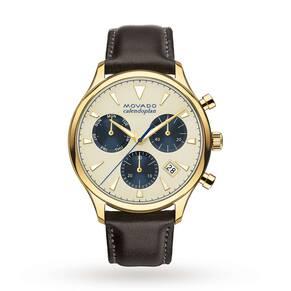 Mens Movado Heritage Chronograph Watch 3650007