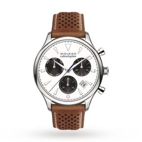 Mens Movado Heritage Chronograph Watch 3650008