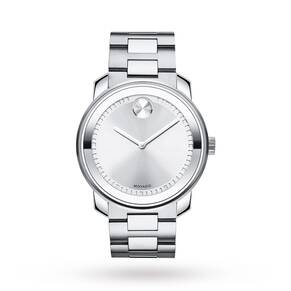 Movado Bold Silver Dial Stainless Steel Men's Watch