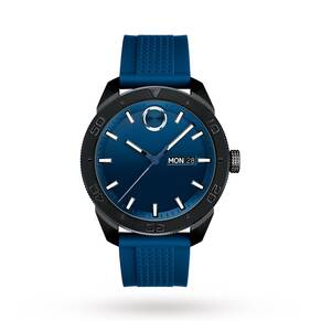 Movado Bold Blue Dial Men's Rubber Watch