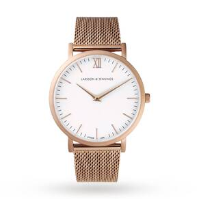 Larsson & Jennings Unisex Lugano 40mm Mesh Watch