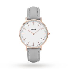 Cluse Ladies La Bohème Rose Gold White/Grey