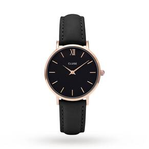 Cluse Ladies Minuit Rose Gold Black/Black